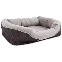 "Orthopedic Peaceful Nester Gray Dog Bed, 40"" L x 30"" W"