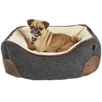 "Harmony Grey Nester Memory Foam Dog Bed, 24"" L x 18"" W"