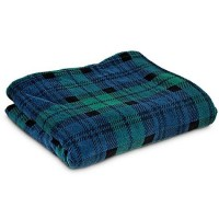 "You & Me Navy Tartan Pet Throw, 50"" L X 60"" W"