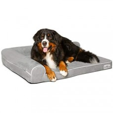 "PetFusion BetterLounge Gray Dog Bed & Lounge, 44"" L X 34"" W"