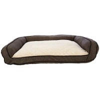 "Harmony Memory Foam Couch Dog Bed in Brown, 48"" L x 36"" W"