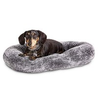 "Harmony Urban Luxe Gray Faux Fur Nester Dog Beds, 24"" L X 18"" W"