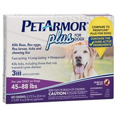 PetArmor Plus Flea & Tick Squeeze-On Dog 45-88 lbs, Count of 3