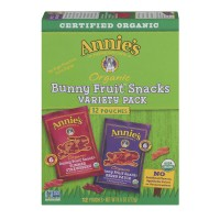 Annie's Homegrown Organic Bunny Fruit Snacks Variety Pack Strawberry/Berry