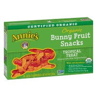 Annie's Homegrown Bunny Fruit Snacks Tropical Treat Organic - 5 ct