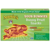Annie's Homegrown Sour Bunnies Fruit Snacks Cherry Lemon Orange - 5 ct