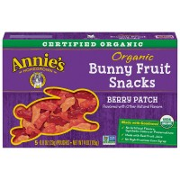 Annie's Homegrown Bunny Fruit Snacks Berry Patch Non-GMO Organic - 5 ct