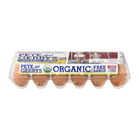 Pete and Gerry's Brown Eggs Grade A Large Free Range Organic