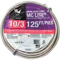 AFC Cable Systems 10/3 x 125 ft. Solid MC Lite Cable