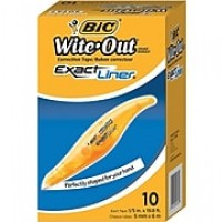 BIC® Wite-Out® Brand Exact Liner® Correction Tape, 10 Pack (WOELP10)