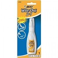 Bic Wite-Out 2-in-1 Correction Fluid, 15 ml Bottle, Each