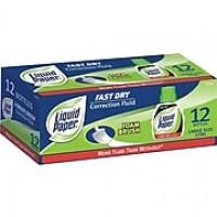 Paper Mate Liquid Paper Fast Dry Correction Fluid, 12/Pk