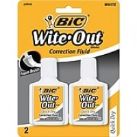 BIC Wite-Out Quick Dry Correction Fluid, 2/Pack (WOFQDP24-A-WHI)