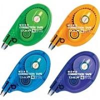 """Tombow Mono® Correction Tape Rainbow Dispenser, 1/6"""" x 394"""", White, 6/Bx"""