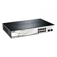 D-Link® DGS-1210 Series DGS-1210-10P 10-Port Gigabit Web Desktop Manageable Smart PoE Switch
