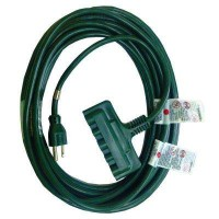 HDX 25 ft. 16/3 Indoor/Outdoor Multi Outlet Landscape Extension Cord, Green