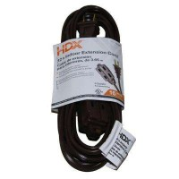 HDX 12 ft. 16/2 Indoor Cube Tap Extension Cord, Brown