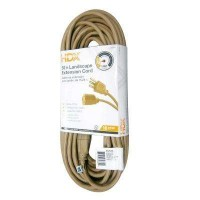 HDX 50 ft. 16/3 Indoor/Outdoor Landscape Extension Cord, Beige