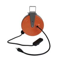 HDX 30 ft. 16/3 Heavy-Duty Retractable Extension Cord Reel with 3-Outlets