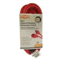 HDX 25 ft. 16/3 Light-Duty Indoor/Outdoor Extension Cord