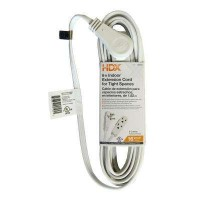 HDX 6 ft. 16/3 Indoor Tight Space Cube Tap Extension Cord, White
