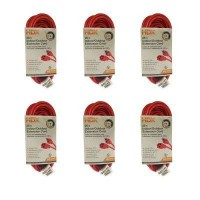 HDX 25 ft. 16/3 Light-Duty Indoor/Outdoor Extension Cord (6-Pack)