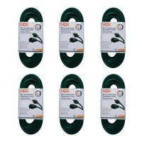 HDX 50 ft. 16/3 Indoor/Outdoor Landscape Extension Cord, Green (6-Pack)