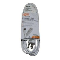 HDX 8 ft. 16/3 Indoor Banana Tap Extension Cord, White