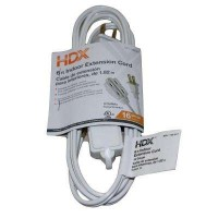 HDX 6 ft. 16/2 Indoor Cube Tap Extension Cord, White