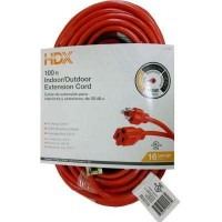 HDX 100 ft. 16/3 Indoor/Outdoor Extension Cord, Orange