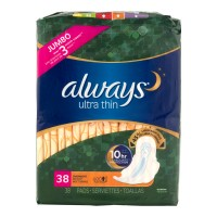 Always Pads Ultra Thin with Flexi-Wings Overnight Jumbo Pack