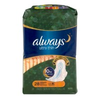 Always Ultra Thin Pads Overnight Protection with Flexi-Wings