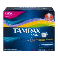 Tampax Pearl Tampons 10 Lites/30 Regular/10 Super Unscented