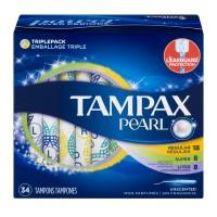 Tampax Pearl Tampons 8 Lites/ 20 Regular/ 8 Super Unscented