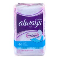 Always Dailies Liners Thin Regular Unscented