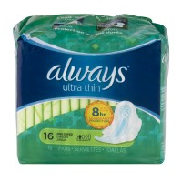 Always Ultra Thin Pads Super Protection with Flexi-Wings Long
