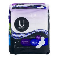 U By Kotex Security Maxi Pads Overnight with Wings