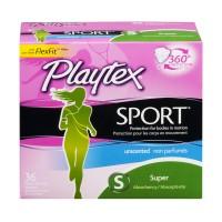 Playtex Sport Tampons Super Plastic Applicator Unscented