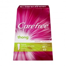Carefree Thong Pantiliners Light Protection with Wings Unscented