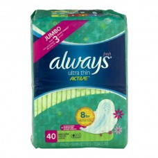 Always Fresh Pads Ultra Thin Active Super Protection with Flexi-Wings Long