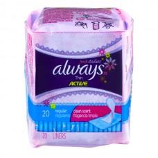 Always Pantiliners Thin Active Regular Clean Scent