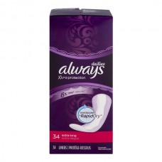Always Xtra Protection Pantiliners Unscented w/Leak Guard Extra Long