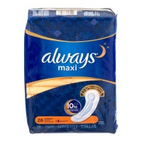 Always Maxi Pads Overnight Protection with Leak Guard