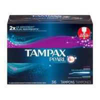 Tampax Pearl Tampons Ultra Absorbency w/Plastic Applicator Unscented