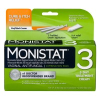 Monistat 3 Vaginal Antifungal 3 Day Treatment Cream Combination Pack