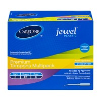 CareOne Jewel Plastic Premium Tampons Multipack Unscented