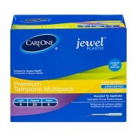 CareOne Jewel Plastic Premium Tampons Multipack Unscented