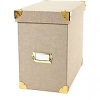 "DwellStudio Linen File Box, Gate Interior, 7.5""W x 10.5"" H x 13"" D (45144)"
