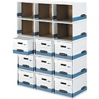 Bankers Box File/Cube Quick Set-Up Box Shells, Letter/Legal, Stacks Up to 5 High, 6/Ct (0162601)