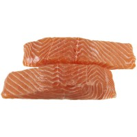 Atlantic Salmon Fillets Skinless Farm-Raised Fresh